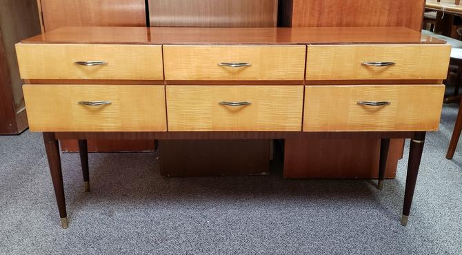 Item #MA19 Vintage Mid Century Maple Chest of Drawers c.1950