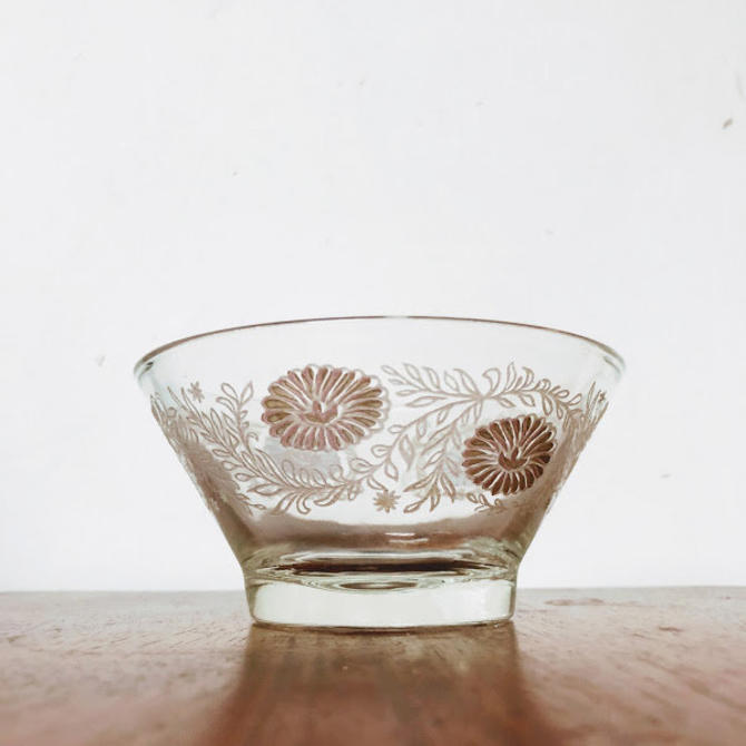 Vintage Mid Century Modern Glass Condiment Bowl Signed Todd by OverTheYearsFinds