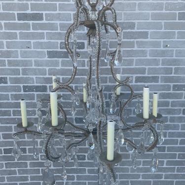 Louis XIV Style Dennis & Leen 8 Light Beaded Crystal Chandelier