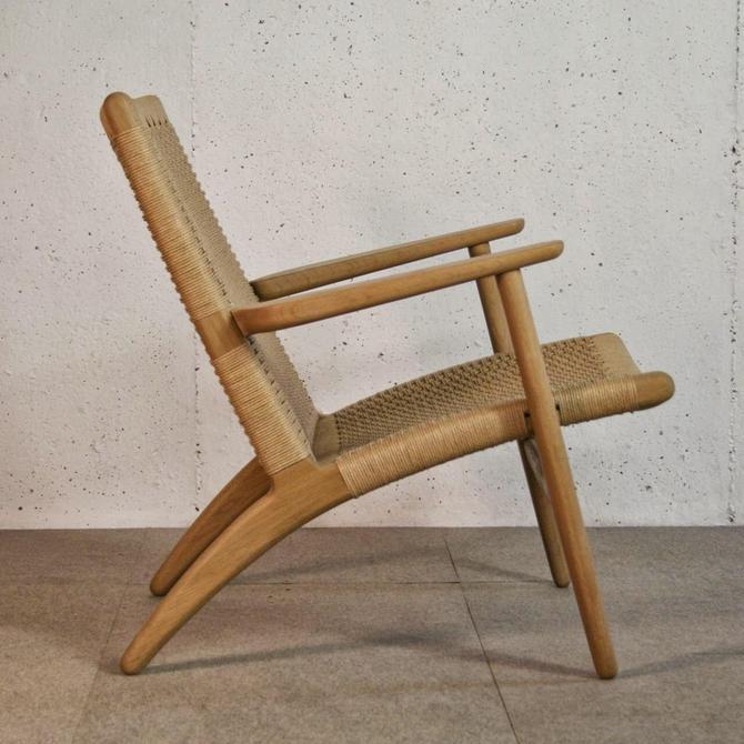 Hans Wegner CH25 all original Arm Chair Mid Century Modern Vintage Lounge Danish Denmark by CaribeCasualShop