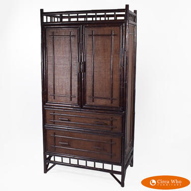 Grasscloth Bamboo Cabinet