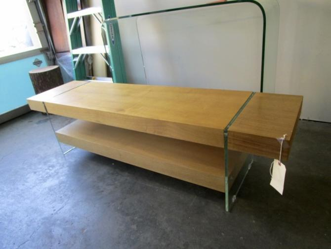 WOOD AND GLASS MEDIA CONSOLE