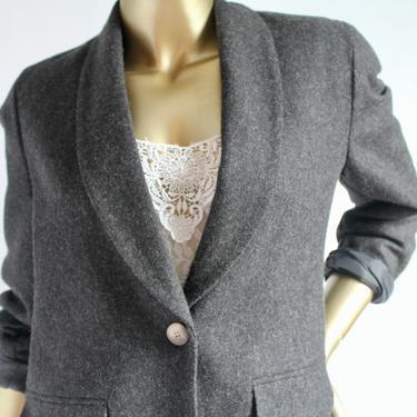1980's Grey Wool Blazer fits fits S - M by BeggarsBanquet