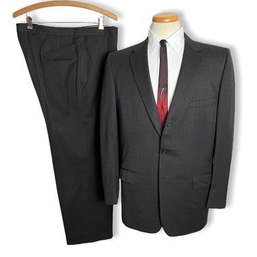 Vintage 1950s ATOMIC ERA Wool 2pc Suit ~ 40 Reg ~ jacket / blazer / sport coat / pants ~ Preppy / Ivy Style / Trad ~ Drop Loop Trousers by SparrowsAndWolves