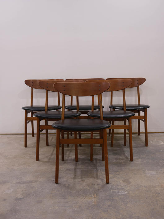 Set of 6 Vintage Danish Modern Farstrup Dining Chairs by FarOutFindsNYC