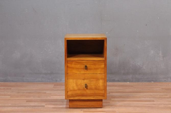 Mid Century Yew 2-Drawer Nightstand