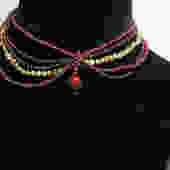 Shanghai Necklace Cafe Society Collection:   Various Red and Green Pearls by CafeSocietyStore