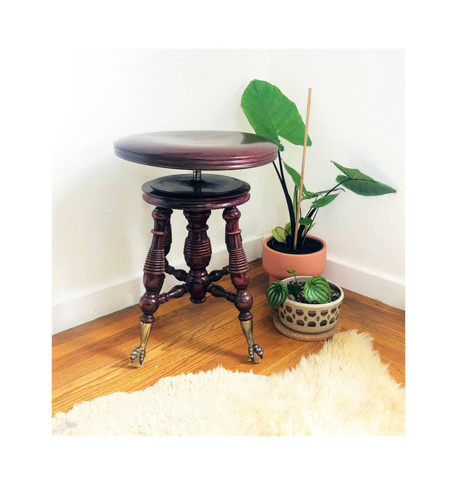 Antique Victorian Clawfoot Piano Stool / Holtzman and Sons by SergeantSailor