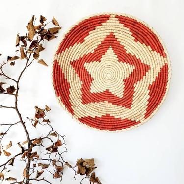 Woven Tribal Shallow Bowl Basket Wall Decor by pennyportland