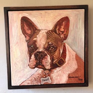 Pearl . Oil on canvas by Carlos Arroyave by EclecticHomeLiving