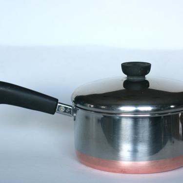 vintage revere ware 2 quart saucepan copper clad bottom clinton illinois 1998 by suesuegonzalas