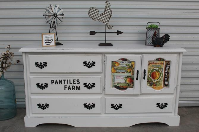 Farmhouse Cabinet with Fruit Labels