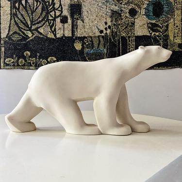 Large Bear Figure by Francois Pompon Mid Century Rare Size 17 inches by CaribeCasualShop