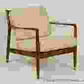 Danish Modern Lounge Chair in Beechwood