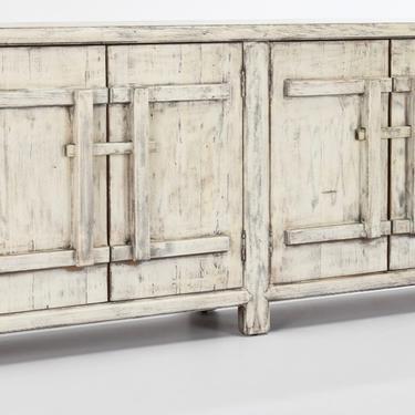 Whitewash Sideboard Four Door Cabinet from Terra Nova Designs Furniture Los Angeles by TerraNovaLA
