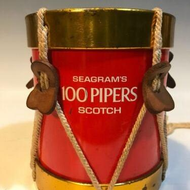 Vintage Promotional Seagrams 100 Pipers Scotch Noble & Cooley DRUM BANK Advertis, unique vintage gifts, piggy bank drum by PeoplewillStare