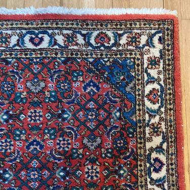 Vintage Rug 3' 1 x 5' 7 Red Oriental Rug by JessiesOrientalRugs