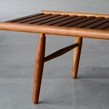 Rare 1950's Vilhelm Wohlert Slat Bench in Teak and Oak by MadsenModern