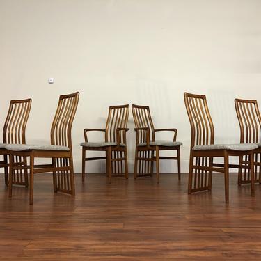 Kai Kristensen Teak Dining Chairs Set of 6 by Vintagefurnitureetc