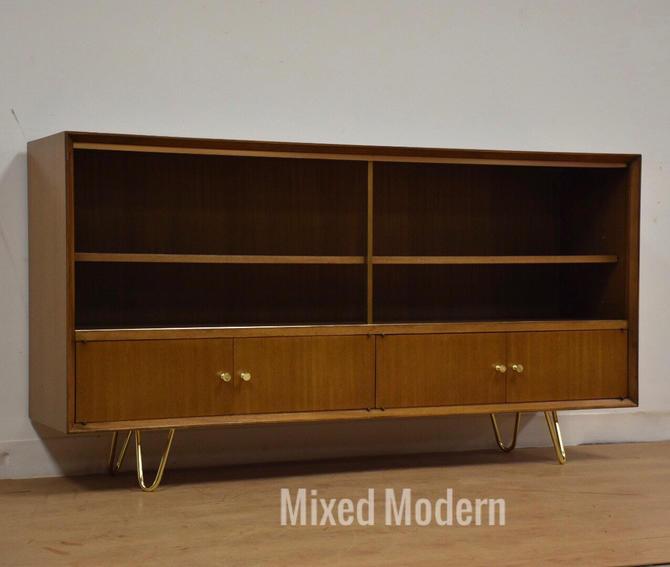 Paul McCobb Brass Mahogany Bookcase by mixedmodern1