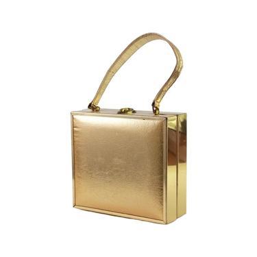 1960s Gold Box Purse - Gold Lame Purse - 1960s Evening Bag - Gold Handbag - 1960s Box Purse - Gold Cocktail Purse - Stylecraft Purse by VeraciousVintageCo