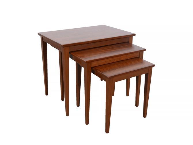 Walnut Nesting Tables Danish Modern Mid Century Modern by HearthsideHome