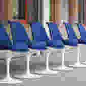 Six Saarinen Swivel Tulip Chairs $2950
