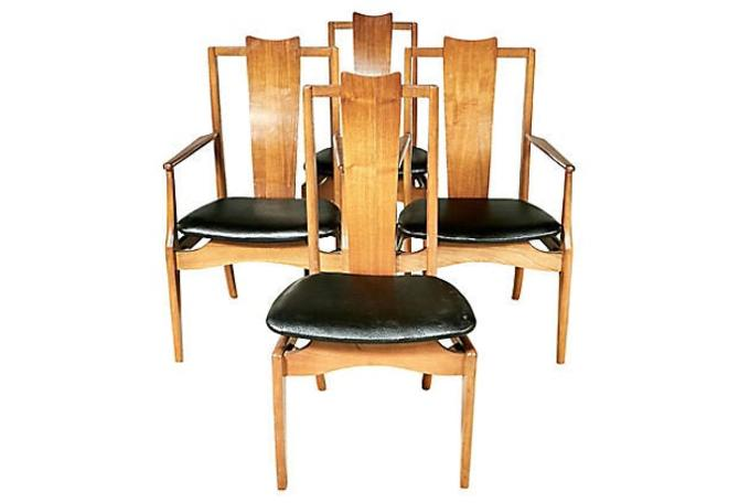 1960s Asian-Style Dining Room Chairs, Set of 4 by 2bModern