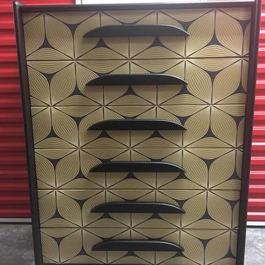 Black + Gold Vintage Dresser by FolkloveStudio