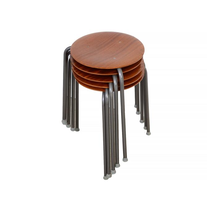 Arne Jacobsen Dot Stools Set of 5 made by Fritz Hansen Made in Denmark by HearthsideHome