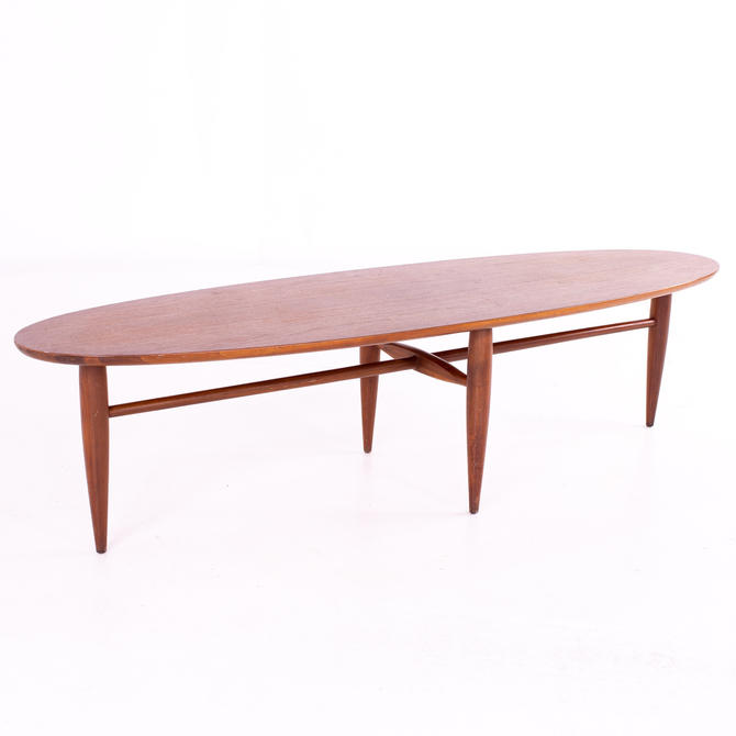 Mersman Mid Century Walnut Surfboard Coffee Table - mcm by ModernHill