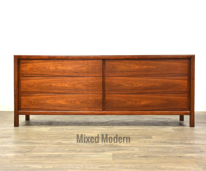Walnut Mid Century Dresser by Widdicomb by mixedmodern1