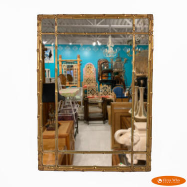 Bamboo Gold Leaf  Carvers Guild Mirror