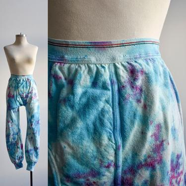 Blue & Pink Tie Dye Long John Pants by milkandice