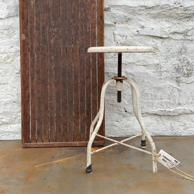 White Industrial Stool