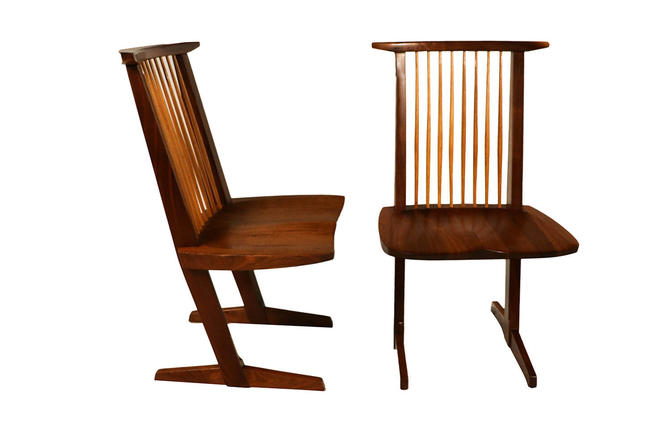 George Nakashima Conoid Chairs by Marykaysfurniture
