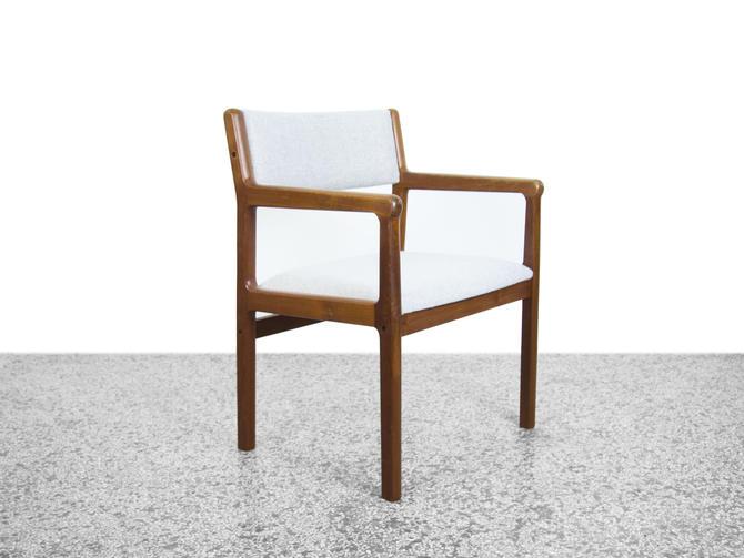 Teak Armchair in Kvadrat Wool by Jørgen Henrik Møller for J.L. Møller by JefferyStuart