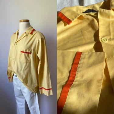 60s Yellow Pajama Shirt by DiscoLaundryVintage
