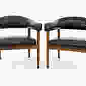 Arne Vodder Kodawood Style Dining Chairs - Pair