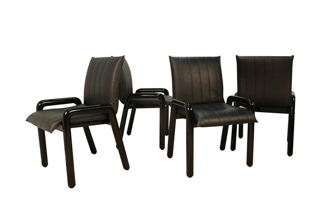 """Four Guido Faleschini Italian """"Dilos"""" Dining Chairs By i4 Mariani For Pace by Marykaysfurniture"""