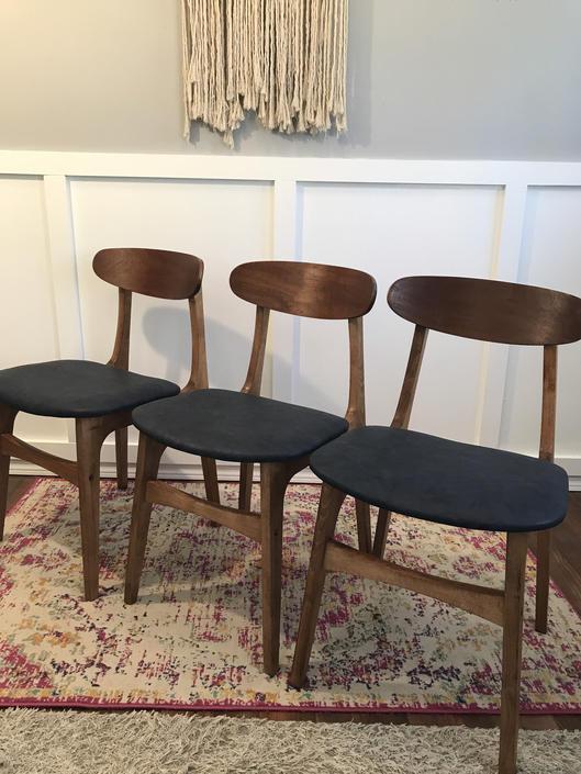 Chairs Walnut Single Dinette Desk Teak Walnut Vintagecore Restored Upholstered Mid Century Modern Danish Yugoslavia by VintageCoreReStore