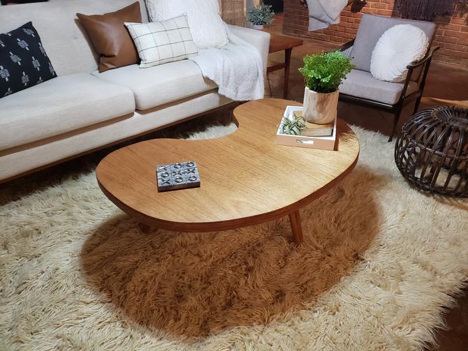 Vintage Kidney Shape Coffee Table