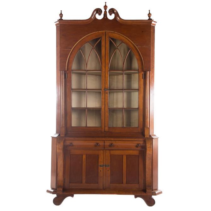 Late Classical Cherry Corner Cupboard