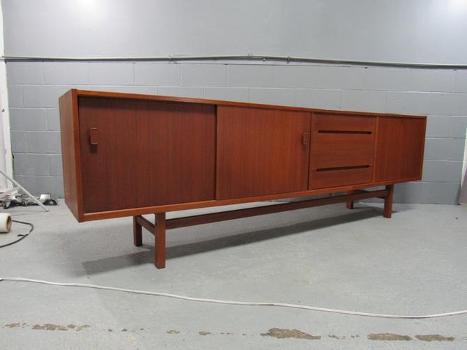 Midcentury Swedish Long Sideboard Credenza by Nils Jonsson for Hugo Troeds