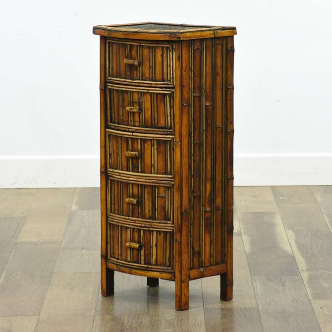 Bamboo Style 5 Drawer Nightstand Lingerie Cabinet