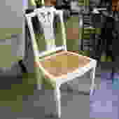 PAINTED SINGLE CHAIR WITH CANE SEAT
