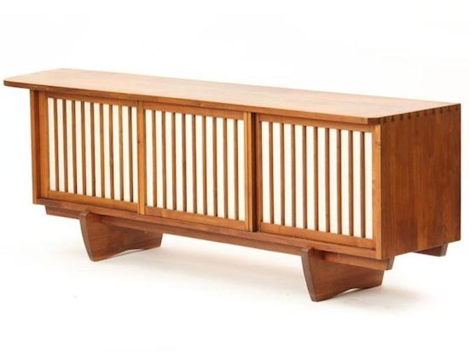 Walnut and Linen Sideboard