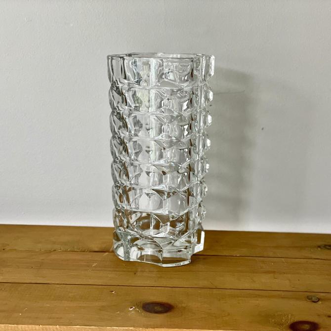 Vintage French Windsor Luminarc Cut Crystal Vase by Northforkvintageshop