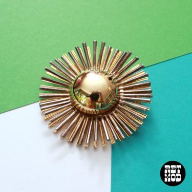 STUNNING Vintage 60s 70s Gold Burst Brooch Pin by RETMOD