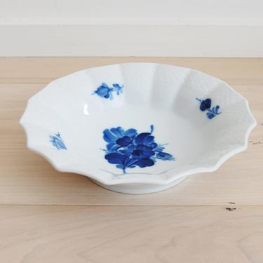Royal Copenhagen Blue Flower Angular Round Pickle Dish Made in Denmark, 8008 by MidCentury55